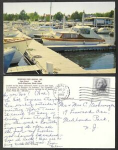 1966 Rhode Island Postcard - North Kingstown - Wickford Cove Marina