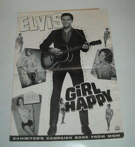 ELVIS PRESLEY - GIRL HAPPY PROMO MOVIE PRESSBOOK 1965 SHELLEY FABARES ROMANCE