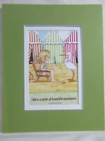 """Mary Engelbreit Matted Calendar Print 8 X 10"""" Life is a Series of Encounters"""