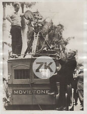 FRED OTT Kinetoscope CINEMATOGRAPHE Edison MOVIETONE Camera Photo 1929
