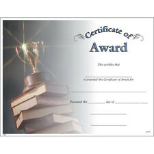 Certificate of Award, Pack of 15