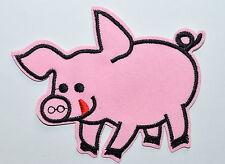 Pig sow hog swine boar livestock farm animal applique iron on patch new