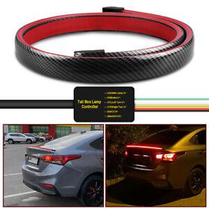 1.3M Universal Carbon Fiber Spoiler Multi-mode Trunk/Car LED Rear Wing Roof Tail