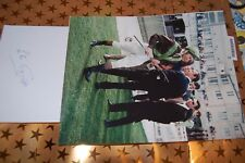LESTER PIGGOTT  SIGNED WHITE CARD WITH 10X8 PHOTO 1