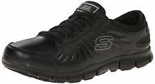 Skechers Work Women's Eldred Slip Resistant Shoe, Black, Size 8.0 3cTz