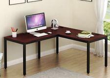 SHW OD-005-1 55x60 in L Shaped Home Office Corner Desk - Espresso