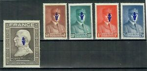 LIBERATION SYLVANES - la série complète des 5 Pétain + grand portrait non-émis