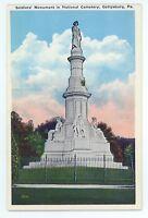 Soldiers' Monument GETTYSBURG PA Vintage Civil War Battlefield Postcard
