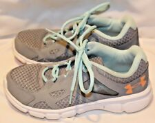 Under Armour Women's Thrill 2 Running Shoes 1258735-037 Gray/Seafoam/Orange 5.5