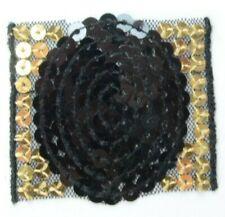 Applikation zum Aufbügeln Bügelbild   6-706 Ornament aus Pailetten