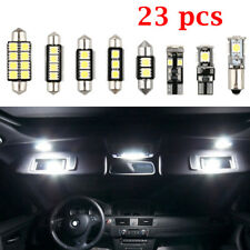 23PCS Front Rear L& R LED Car Inside Light Dome Trunk Mirror License Plate Lamp