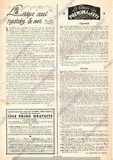LES PRENOMS DEFINITION CHANTAL LOUISE ARTICLE PRESSE 1949