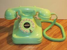 Vintage Push Button  Mint Green Grand Telephone In Excellent Working Condition