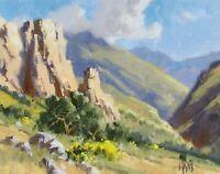 "TOM HAAS (b.1952) 'Salt River Canyon' oil 11""x14"" central Arizona between lakes"