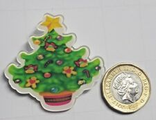 Christmas Tree Acrylic Badge - Pin Badges - Backpack - Brooch -UK Stock