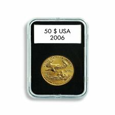 Lighthouse Quickslab 22mm Coin Capsule ReClosable Slab 1/4oz Gold Eagle Qty 5