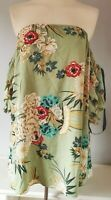 Pretty Little Thing Women's Dress BNWT Green Size 10 Floral Ruched Bardot Sleeve