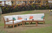 8 PC TEAK WOOD GARDEN INDOOR OUTDOOR PATIO SECTIONAL SOFA SET FURNITURE NAPA NEW