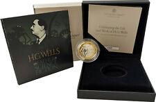 2 Pfund Großbritannien Herbert George H.G. Wells 2021 Silber PP Proof Piedfort