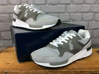 POLO RALPH LAUREN MENS UK 10 EU 44 TRACKSTER 100 GREY WHITE TRAINERS RRP £120  A