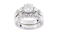 Vanna K For Bella Luce 2.56ctw Diamond Simulant Platineve Ring W/ Band Sz 8 jtvJ