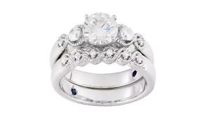 Vanna K For Bella Luce 2.56ctw Diamond Simulant Platineve Ring W/ Band Sz 8 jtvJ