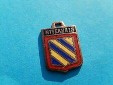 VINTAGE Wappen Anhänger Für Bettelarmband Bronze NIVERNAIS