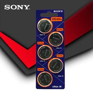 5pcs Sony Original CR2450 CR 2450 3V Coin Battery