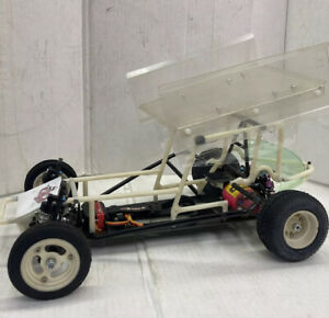 Rare Vintage Custom Works Sprint Car RC 1/10 Scale with Extra Cage and Parts Lot