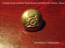 Vintage Royal Artillery Brass Button. Armfield Ltd. Birmingham. 19mm. AH9710.