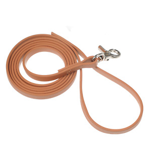 """Bellington Leashes - 6 ft Biothane Leash 1/2"""" Wide with Trigger Snap - Tan"""