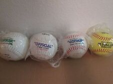 "New Lot of 4 V.Sport Corker Softballs 2 12"" & 2 11"" Nip"