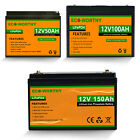 50AH 100AH 150AH 12V Rechargeable Lithium Battery LiFePO4 for RV Solar Home Boat
