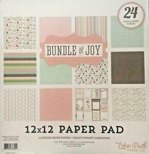 "Echo Park 12""x 12"" BUNDLE OF JOY GIRL, BABY paper pad~Beautiful! Quick Ship!"