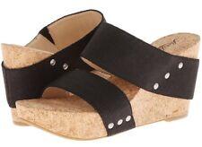 Womens Lucky BRAND Magnolia 2 Wedge Black Sandal Size 10