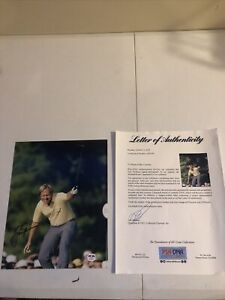 JACK NICKLAUS GOLF SIGNED AUTOGRAPH 8x10 PHOTO PICTURE PSA COA LETTER MASTERS