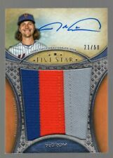 JACOB DEGROM 2017 TOPPS FIVE STAR ON CARD AUTO/3-COLOR PATCH #21/50 **METS**