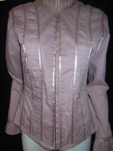 GRACE HILL Womens Long sleeve Dusty Pink Top/Jacket size 8