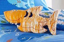 Children's Kids Club Orange Shark Sea World Shaped Filled Cushion