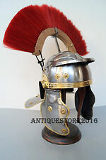 Medieval Greek Corinthian Roman Knight Gallic Helmet With Wooden Stand Gift Item
