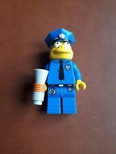 Lego 71005 jefe wiggum simpsons serie 1 Minifigura