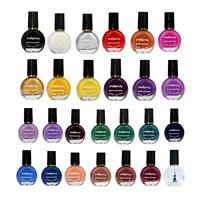 26Colors Stamp Template Stamping Nail Polish Art Manicure Varnish Brush DIY Sets