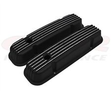 1959-79 PONTIAC 301-326-350-389-400-421-428-455 V8 aluminum VALVE COVERS black