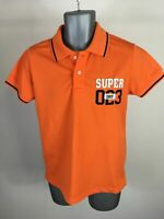 MENS VINTAGE SUPERDRY BRIGHT ORANGE SHORT SLEEVE POLO SHIRT TEE SHIRT SIZE S