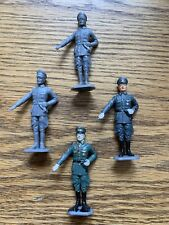 4x MARX ? GERMAN OFFICERS 1/32 54MM WORLD WAR TWO Plastic Toy Soldiers