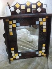 Mueble ESPEJO para colgar, madera con mosaicos