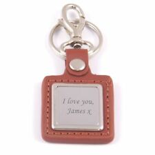 Personalised Engraved Leather Key Ring - Great Gift