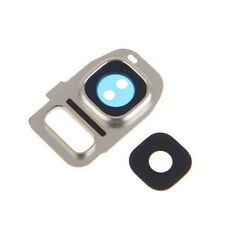 Samsung Galaxy S7 + S7 Edge Replacement Back Camera Lens Cover Frame Silver