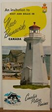 1950's 60's New Brunswick Vintage travel brochure lighthouse cover b
