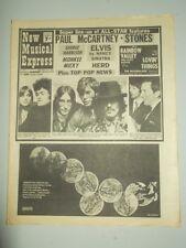 NME #1116 JUNE 1 1968 PAUL MCCARTNEY ROLLING STONES ELVIS PRESLEY BEATLES LULU